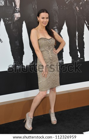 "LOS ANGELES, CA - AUGUST 16, 2012: Actress Jon Mack at the Los Angeles premiere of ""The Expendables 2"" at Grauman's Chinese Theatre, Hollywood."