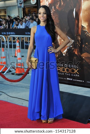 """LOS ANGELES, CA - AUGUST 28, 2013: Bianca Lawson at the world premiere of """"Riddick"""" at the Regency Village Theatre, Westwood.  - stock photo"""