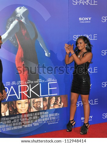 """LOS ANGELES, CA - AUGUST 16, 2012: Bobbi Kristina Brown (daughter of the late Whitney Houston) at the premiere """"Sparkle"""" at Grauman's Chinese Theatre, Hollywood. - stock photo"""