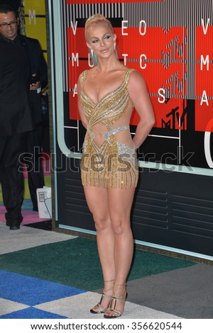 LOS ANGELES, CA - AUGUST 30, 2015: Britney Spears at the 2015 MTV Video Music Awards at the Microsoft Theatre LA Live.
