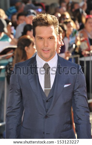 LOS ANGELES, CA - AUGUST 5, 2013: Dane Cook at the world premiere of his movie Disney's Planes at the El Capitan Theatre, Hollywood.
