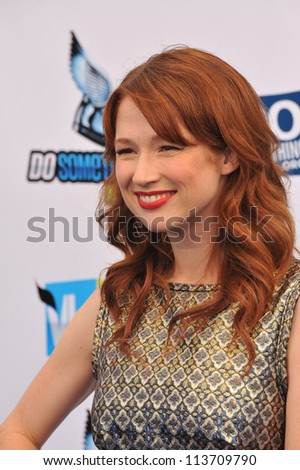 LOS ANGELES, CA - AUGUST 19, 2012: Ellie Kemper at the 2012 Do Something Awards at Barker Hangar. Santa Monica Airport.