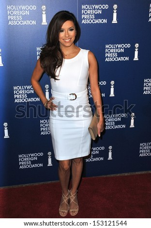 LOS ANGELES, CA - AUGUST 13, 2013: Eva Longoria at the Hollywood Foreign Press Association's 2013 Annual Luncheon at the Beverly Hilton Hotel.  - stock photo