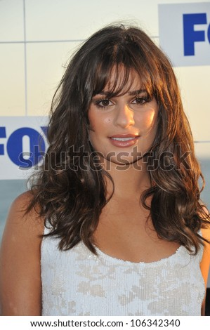 "LOS ANGELES, CA - AUGUST 5, 2011: ""Glee"" star Lea Michele at the Fox TV Summer 2011 All-Star Party at Gladstones Restaurant, Malibu. August 5, 2011  Malibu, CA"