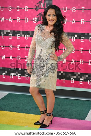 LOS ANGELES, CA - AUGUST 30, 2015: Jenelle Evans at the 2015 MTV Video Music Awards at the Microsoft Theatre LA Live.