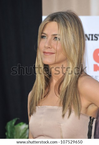 "LOS ANGELES, CA - AUGUST 16, 2010: Jennifer Aniston at the world premiere of her new movie ""The Switch"" at the Cinerama Dome, Hollywood. - stock photo"