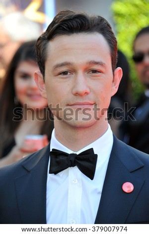 LOS ANGELES, CA - AUGUST 16, 2014: Joseph Gordon-Levitt at the 2014 Creative Arts Emmy Awards at the Nokia Theatre LA Live.