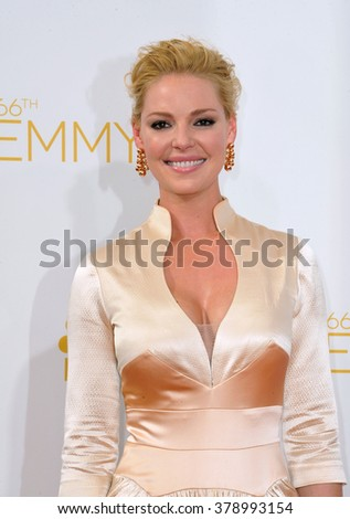 LOS ANGELES, CA - AUGUST 25, 2014: Katherine Heigl at the 66th Primetime Emmy Awards at the Nokia Theatre L.A. Live downtown Los Angeles.