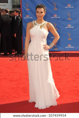 LOS ANGELES, CA - AUGUST 29, 2010: Kim Kardashian at the 2010 Primetime Emmy Awards at the Nokia Theatre L.A. Live in downtown Los Angeles.