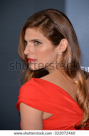 "LOS ANGELES, CA - AUGUST 17, 2015: Lake Bell at the Los Angeles premiere of her movie ""No Escape"" at the Regal Cinemas LA Live. 