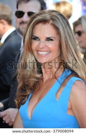 LOS ANGELES, CA - AUGUST 16, 2014: Maria Shriver at the 2014 Creative Arts Emmy Awards at the Nokia Theatre LA Live.