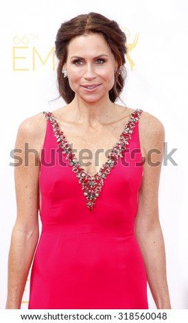 LOS ANGELES, CA - AUGUST 25, 2014: Minnie Driver at the 66th Annual Primetime Emmy Awards held at the Nokia Theatre L.A. Live in Los Angeles, USA on August 25, 2014. - stock photo