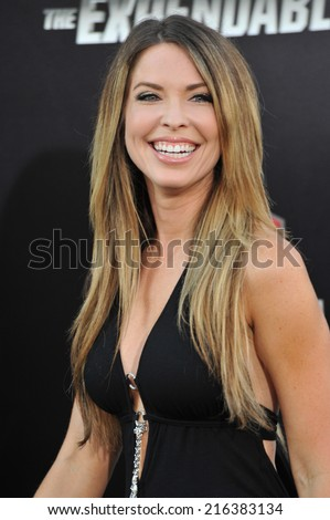 """LOS ANGELES, CA - AUGUST 11, 2014: Nicole Andrews at the Los Angeles premiere of """"The Expendables 3"""" at the TCL Chinese Theatre, Hollywood.  - stock photo"""