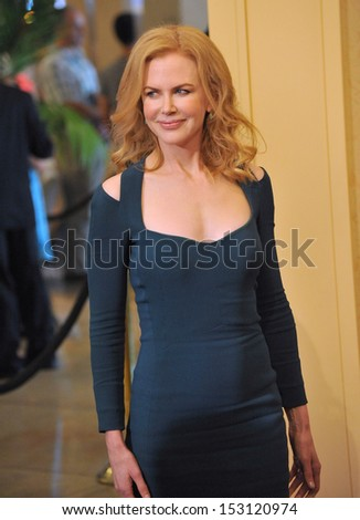 LOS ANGELES, CA - AUGUST 13, 2013: Nicole Kidman at the Hollywood Foreign Press Association's 2013 Annual Luncheon at the Beverly Hilton Hotel.  - stock photo