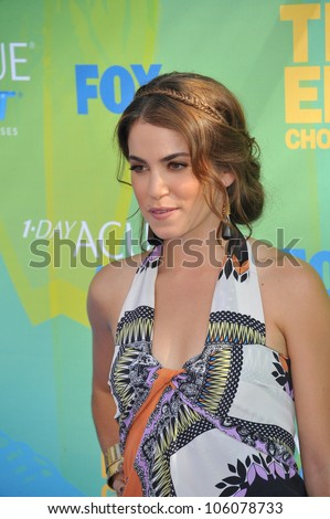 LOS ANGELES, CA - AUGUST 7, 2011: Nikki Reed arrives at the 2011 Teen Choice Awards at the Gibson Amphitheatre, Universal Studios, Hollywood. August 7, 2011  Los Angeles, CA