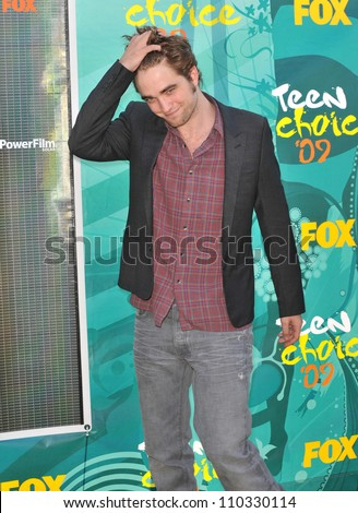 LOS ANGELES, CA - AUGUST 9, 2009: Robert Pattinson at the 2009 Teen Choice Awards at the Gibson Amphitheatre, Universal City. - stock photo