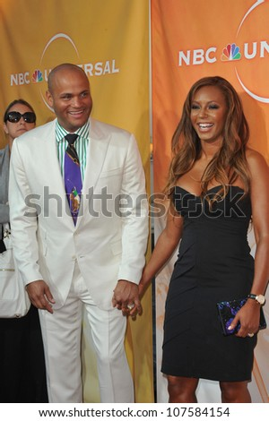 "LOS ANGELES, CA - AUGUST 1, 2010: Spice Girl Mel B - star of ""Dance Your Ass Off"" - & husband & Stephen Belafonte at NBC Universal TV Summer Press Tour Party in Beverly Hills."