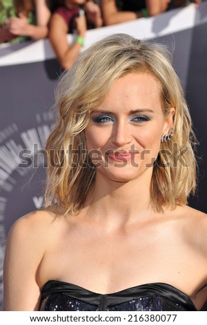 LOS ANGELES, CA - AUGUST 24, 2014: Taylor Schilling at the 2014 MTV Video Music Awards at the Forum, Los Angeles.