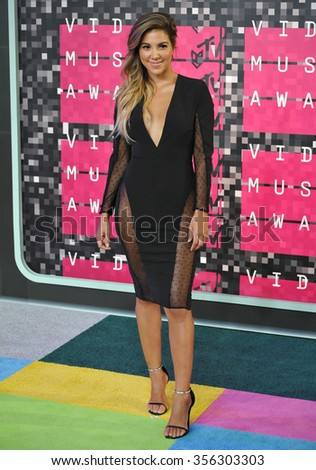 LOS ANGELES, CA - AUGUST 30, 2015: TV personality Liz Hernandez at the 2015 MTV Video Music Awards at the Microsoft Theatre LA Live.