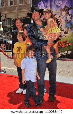 "LOS ANGELES, CA - AUGUST 15, 2009: Writer/director Robert Rodriguez & family at the Los Angeles premiere of his new movie ""Shorts"" at Grauman's Chinese Theatre, Hollywood."