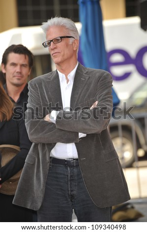 LOS ANGELES, CA - DECEMBER 16, 2009: Actor Ted Danson on Hollywood Boulevard where his wife actress Mary Steenburgen was honored today with the 2,395th star on the world-famous Hollywood Walk of Fame.