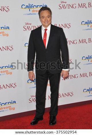 "LOS ANGELES, CA - DECEMBER 9, 2013: Bradley Whitford at the US premiere of his movie ""Saving Mr Banks"" at Walt Disney Studios, Burbank.  - stock photo"