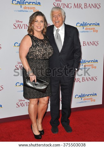 "LOS ANGELES, CA - DECEMBER 9, 2013: Dick Van Dyke & wife Arlene Silver  at the US premiere of ""Saving Mr Banks"" at Walt Disney Studios, Burbank.  - stock photo"