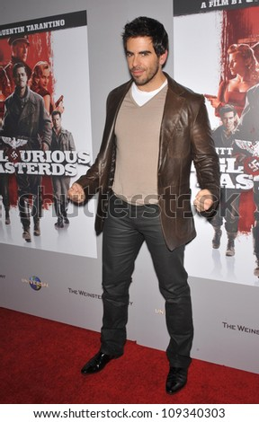 "LOS ANGELES, CA - DECEMBER 14, 2009: Eli Roth at the DVD launch of his movie ""Inglourious Basterds"" at the New Beverly Cinema, Los Angeles."