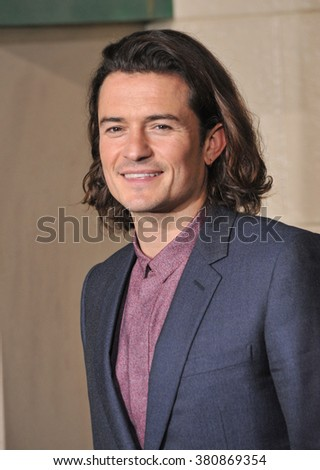 "LOS ANGELES, CA - DECEMBER 9, 2014: Orlando Bloom at the Los Angeles premiere of his movie ""The Hobbit: The Battle of the Five Armies"" at the Dolby Theatre, Hollywood. - stock photo"