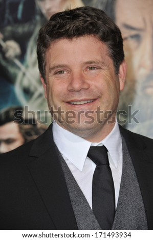 "LOS ANGELES, CA - DECEMBER 2, 2013: Sean Astin at the Los Angeles premiere of ""The Hobbit: The Desolation of Smaug"" at the Dolby Theatre, Hollywood."
