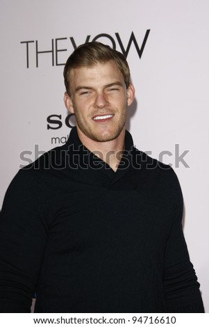 LOS ANGELES, CA - FEB 6: Alan Ritchson at the premiere of Sony Pictures' 'The Vow' at Grauman's Chinese Theater on February 6, 2012 in Los Angeles, California