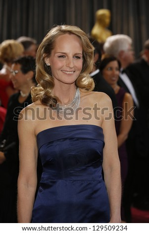 LOS ANGELES, CA - FEB 24: Helen Hunt at the 85th Annual Academy Awards on February 24, 2013 in Los Angeles, California - stock photo