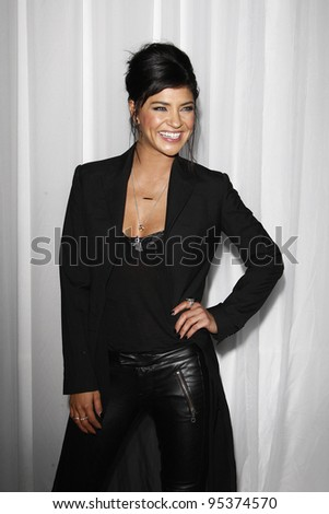 LOS ANGELES, CA - FEB 15: Jessica Szohr at the Sony PlayStationAE Unveils PS VITA Portable Entertainment System at Siren Studios on February 15, 2012 in Los Angeles, California - stock photo