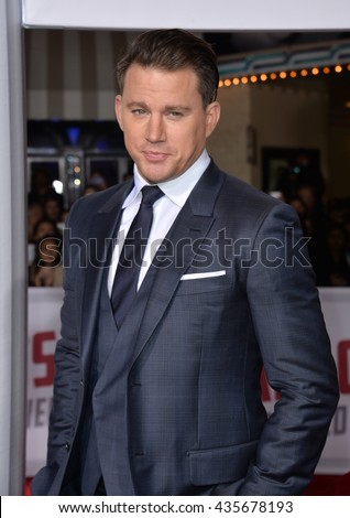 "LOS ANGELES, CA - FEBRUARY 1, 2016: Actor Channing Tatum at the world premiere of his movie ""Hail Caesar!"" at the Regency Village Theatre, Westwood."