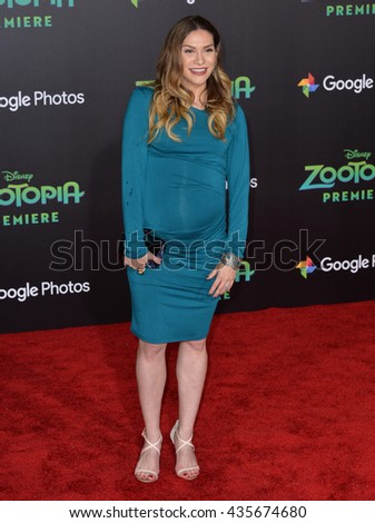 "LOS ANGELES, CA - FEBRUARY 17, 2016: Actress Allison Holker at the premiere of Disney's ""Zootopia"" at the El Capitan Theatre, Hollywood.
