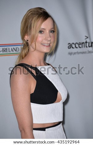 LOS ANGELES, CA - FEBRUARY 25, 2016: Actress Joanne Froggatt at the US-Ireland Alliance's 11th Annual Oscar Wilde pre-Academy Awards event honoring the Irish in Film.  - stock photo