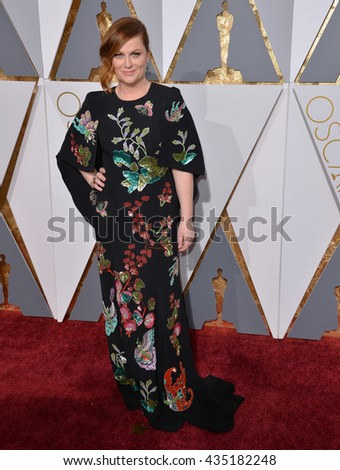 LOS ANGELES, CA - FEBRUARY 28, 2016: Amy Poehler at the 88th Academy Awards at the Dolby Theatre, Hollywood. - stock photo