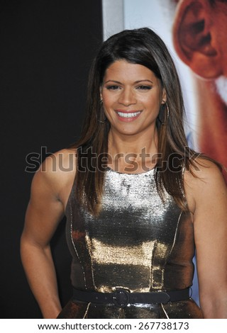 "LOS ANGELES, CA - FEBRUARY 24, 2015: Andrea Navedo at the Los Angeles premiere of ""Focus"" at the TCL Chinese Theatre, Hollywood."