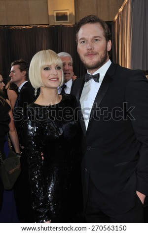 LOS ANGELES, CA - FEBRUARY 26, 2012: Anna Faris & Chris Pratt at the 84th Annual Academy Awards at the Hollywood & Highland Theatre, Hollywood.