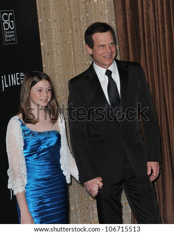 LOS ANGELES, CA - FEBRUARY 22, 2011: Bill Paxton & daughter Lydia at the 13th Annual Costume Designers Guild Awards at the Beverly Hilton Hotel. February 22, 2011  Beverly Hills, CA