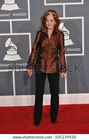 LOS ANGELES, CA - FEBRUARY 12, 2012: Bonnie Raitt at the 54th Annual Grammy Awards at the Staples Centre, Los Angeles. February 12, 2012  Los Angeles, CA