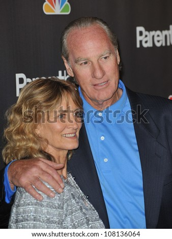 "LOS ANGELES, CA - FEBRUARY 22, 2010: Craig T. Nelson & wife at the premiere for his new NBC TV series ""Parenthood"" at the Directors Guild of America. - stock photo"