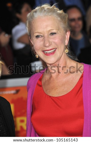 "LOS ANGELES, CA - FEBRUARY 22, 2012: Dame Helen Mirren at the world premiere of ""John Carter"" at the Regal Cinemas L.A. Live. February 22, 2012  Los Angeles, CA"