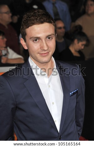 "LOS ANGELES, CA - FEBRUARY 22, 2012: Daryl Sabara at the world premiere of his new movie ""John Carter"" at the Regal Cinemas L.A. Live. February 22, 2012  Los Angeles, CA"