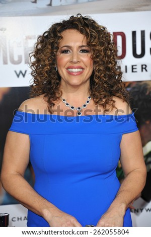 """LOS ANGELES, CA - FEBRUARY 9, 2015: Diana Maria Riva at the world premiere of her movie """"McFarland USA"""" at the El Capitan Theatre, Hollywood.  - stock photo"""