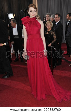 LOS ANGELES, CA - FEBRUARY 26, 2012: Emma Stone at the 84th Annual Academy Awards at the Hollywood & Highland Theatre, Hollywood.  - stock photo