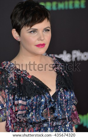 """LOS ANGELES, CA - FEBRUARY 17, 2016: Ginnifer Goodwin at the premiere of Disney's """"Zootopia"""" at the El Capitan Theatre, Hollywood. - stock photo"""