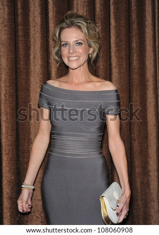 "LOS ANGELES, CA - FEBRUARY 25, 2010: ""Glee"" star Jessalyn Gilsig at the 12th Annual Costume Designers Guild Awards at the Beverly Hilton Hotel."