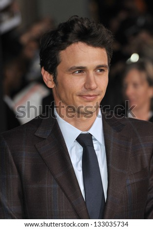 "LOS ANGELES, CA - FEBRUARY 13, 2013: James Franco at the world premiere of his movie ""Oz: The Great and Powerful"" at the El Capitan Theatre, Hollywood. - stock photo"