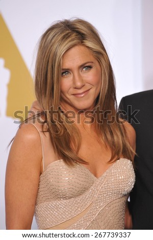 LOS ANGELES, CA - FEBRUARY 22, 2015: Jennifer Aniston at the 87th Annual Academy Awards at the Dolby Theatre, Hollywood.